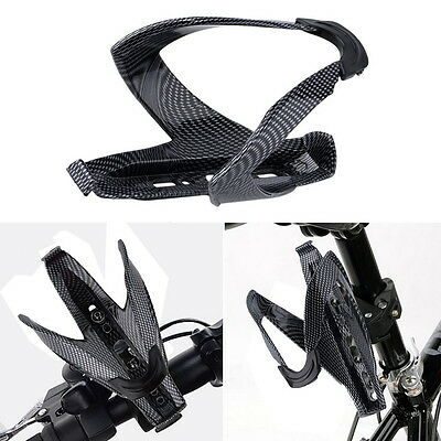 Outdoor Cycling Bicycle Carbon Fiber Water Bottle Drinks Holder Cages Rack Hot B