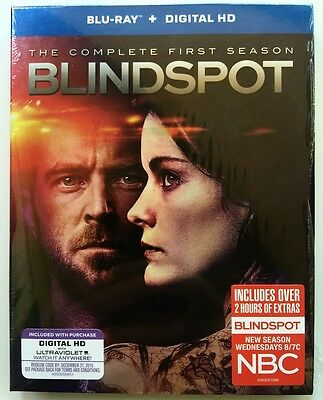 Blindspot The Complete First Season Blu Ray 4 Disc Set + Slipcover Free Shipping