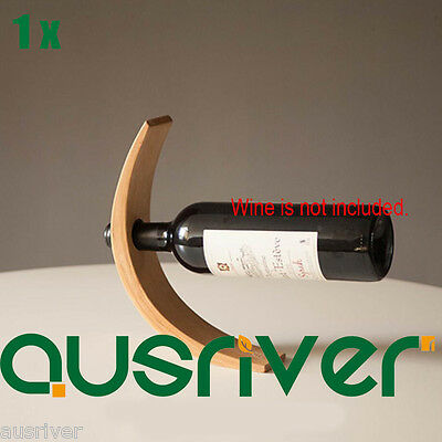 Premiun Wooden Wine Champagne Rack Bottle Holder Original Gift Magic Floating