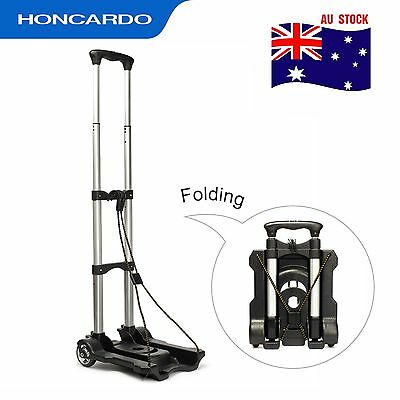 Aluminium Luggage Cart Folding Hand Truck  Portable Travel Shopping Trolley