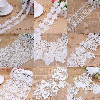 Vintage Embroidered Lace Edge Trim Ribbon Wedding Applique DIY Sewing Craft Gift