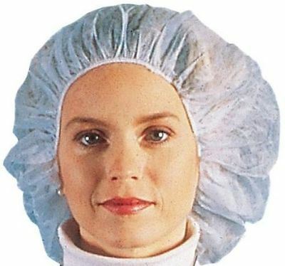 Nurse/Bouffant Cap (Hairnets), White, Box of 100 Pieces - 21""