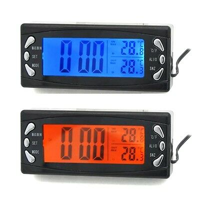 LCD DC 12V Digital Alarm Car Clock Thermometer Temperature Display FREE SHIPPING
