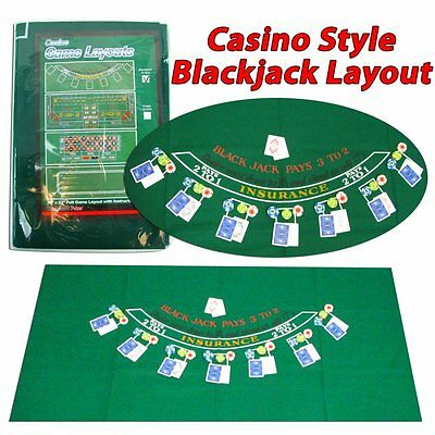 Poker Blackjack Layout, Size 36 x 72 Inch Include Free Shipping