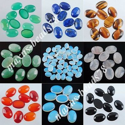 Free shipping Natural Gemstones Oval 10x14x6MM No Hole Cabochon CAB Charm MBN230