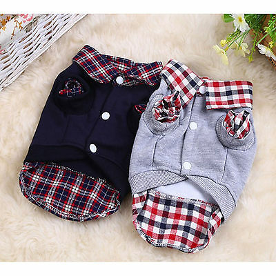 High Pet Dog Winter Coat Sweater Clothes Puppy Cat Warm Knitwear Costume Jumper