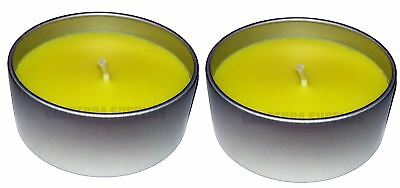 2 x PRICES CITRONELLA LARGE FRAGRANCED GARDEN CANDLE IN TIN 8HR