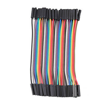 40pcs/Row 10cm 2.54mm Female to Female Wire Jumper Cable 1P-1P For Arduino WL