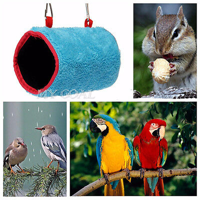 Plush Snuggle Happy Hut Tent Bed Bunk Parrot Toy Bird Hammock Hanging Cave Cage
