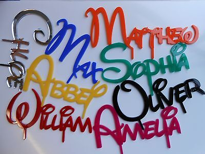 PERSONALISED NAME & COLOUR DISNEY FONT CAKE TOPPER birthday decoration party