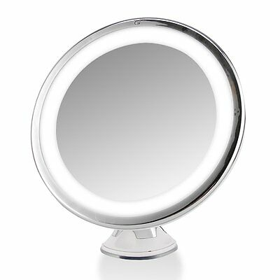 Lighted Makeup Cosmetic Vanity Mirror 7X Magnification Tabletop LED Light Mirror