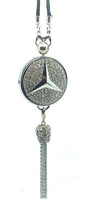 Mercedes Mirror Hanging Car Air Freshener Perfume with Crystals