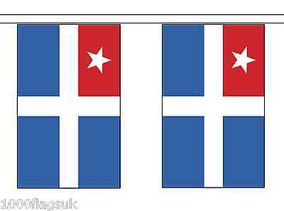 Greece Crete Polyester Flag Bunting - 5m with 14 Flags