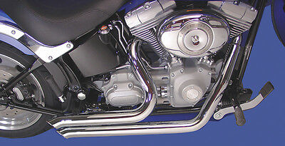 """Side Sweeper Exhaust Pipes 2"""" Harley Softail Fxstb Night Train Fxst Fxstc 07-11"""