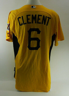 Pittsburgh Pirates Jeff Clement #6 Game Issued Spring Training Jersey 794