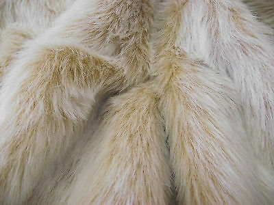 LUXURY Faux Fur Fabric Material ANTELOPE FOX