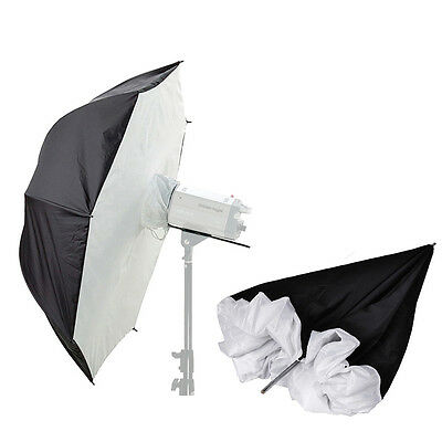 "Photography Video 2x 40"" Umbrella Softbox Soft Brolly Box Flash Light Reflector"