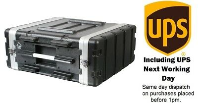 """6U ABS 19"""" Rack Flight Case. Front and Rear Racks. Next Working Day Del."""