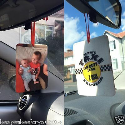 Personalised Custom In-Car Air Freshener, Gift For All
