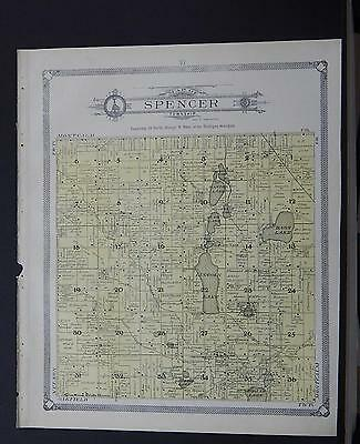 Michigan, Kent County Map, 1907 Township of Nelson or Spencer P1#110