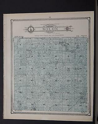 Michigan, Kent County Map, 1907 Township of Solon or Tyrone P1#111