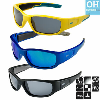 Gill Squad Junior Sunglasses Blue Yellow Black Sailing Floating UV Protection