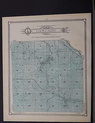 Michigan, Kent County Map, 1907 Township of Cascade or Lowell P1#118