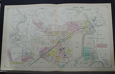 Ohio, Lake County Map, 1898 Painsville Village, Two Double Pages! P1#92