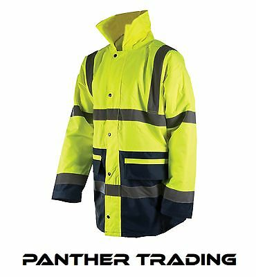 Silverline Hi-Vis Two-Tone Jacket Class 3 PU Coated Size (M-L-XL)