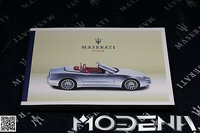 Log Book Hand Operating Instructions Owners Manual Maserati 4200 Spyder Spider