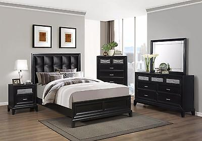 Crown Mark RB9380 Elise Queen Size Bedroom Set 2 Night Stands Contemporary Style