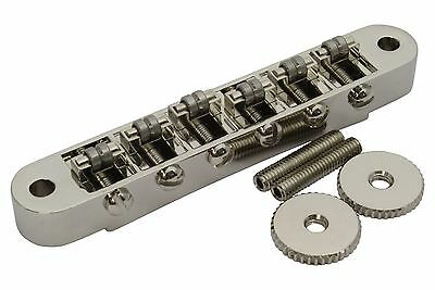 Roller Bridge Tune-o-Matic with m4 threaded posts Gibson Les Paul - Nickel