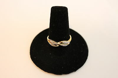 Silver on 10K Yellow Gold Weave Ring - Size 8 - NEW