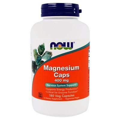 Magnesium 400mg 180 Caps NOW Foods