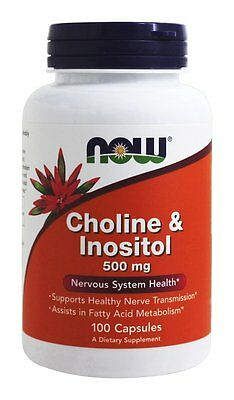Choline & Inositol 500mg 100 Caps NOW Foods