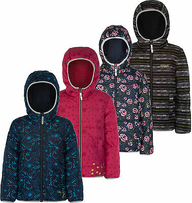 Regatta Coulby Kids Quilted Jacket Glow Prints Girls Boys