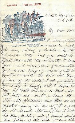 Two Civil War Letters: MA 28th Private Wounded at Bull Run; Great Fight at Hilto