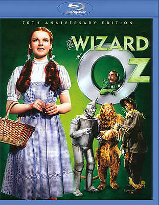 The Wizard of Oz (Blu-ray Disc, 2009, 70th Anniversary Edition) Judy Garland NEW