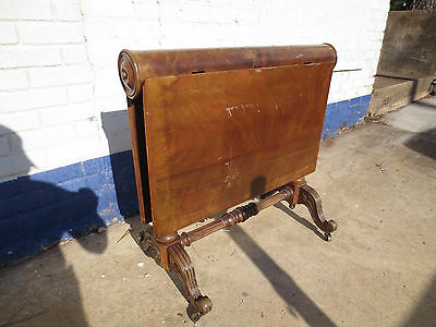 Rare Antique Sunderland Drop Leaf Cylinder Table