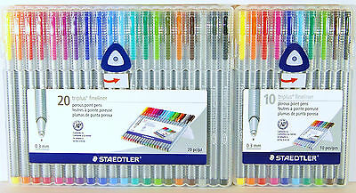 Staedtler Triplus Fineliner 0.3 mm Porous Point Pens 10 Colors or 20 Colors