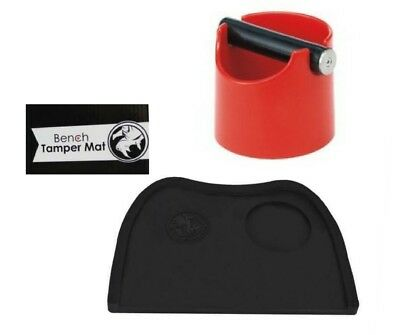 Espresso Coffee Knock Box Concept Art Red Barista  & Rhinowares Tamp Mat