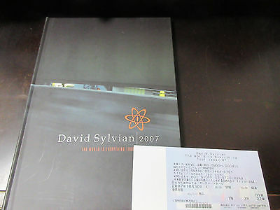 David Sylvian World Is Everything Tour 2007 Book with CD Japanese Ticket Jansen