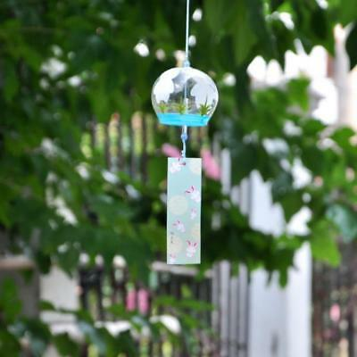 Japanese Culuture Glass Bells Furin Wind Chimes Home Hanging Decor Rabbit
