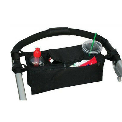 Baby Stroller Parent Console Organizer Double Cup Holder Mummy Bag Hot