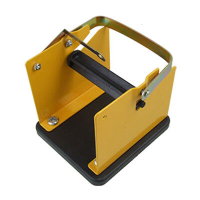 Yellow Black Metal Solder Wire Stand Holder Support B3