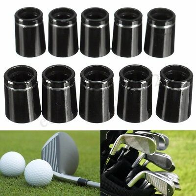 10x Golf Taper Tip Ferrules Adapter With Single Silver Ring For 0.335 Iron Shaft