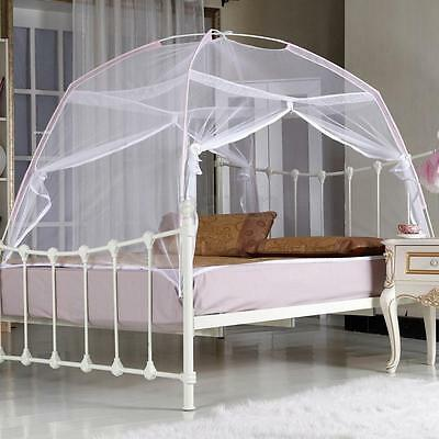 White Portable Folding Mesh Insect Bed Canopy Dome Tent Mosquito Net Bedding