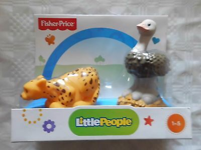 Fisher-Price Little People Strauß and Gepard