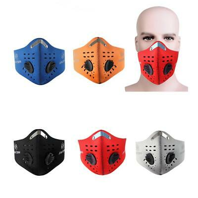 Cycling Activated Carbon Anti Pollution Mask Air Filter Half Face Dustproof Mask