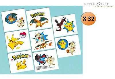 Pokemon Tattoos 32 Tattoos 16 Perforations Party Favours Party Supplies